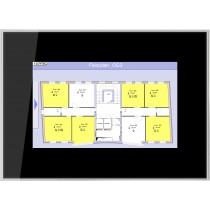 "Touch Panel 7"" frameless glass, black"