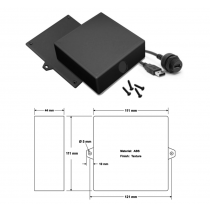 Wall Mount USB Adapter Enclosure
