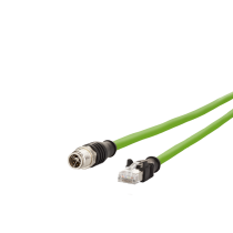 Connection Line M12 - RJ45, 8 pole, X co